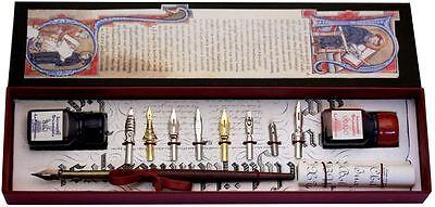 Wood Pen, 8 Nibs, 2 Ink Bottles  by Coles Calligraphy