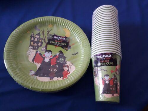 25X Halloween Papier Coupes /& plaques horrible VERT Vaisselle Party Bundle Seulement £ 7