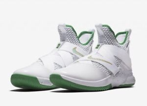 "online retailer f5ad6 54baf Details about Brand New Nike Lebron XII 'SVSM' Green/White A02609-100 Size  15 ""DS"" Rare!"