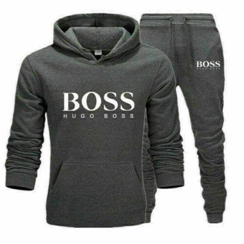 Herren Trainingsanzug 2St Set Hoodies Sweatshirt Hosen Hosen Sport Set Jogginga
