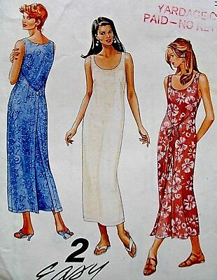1996 Misses Patchwork Dress Sewing Pattern U-Pick Size McCall/'s 8401 OOP