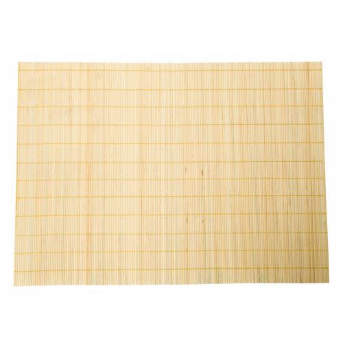 Beige Bambou sets de table rectangle Table de salle à manger Couverts SUSHI Rolling Mat