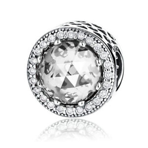 VOROCO-S925-Sterling-Silver-Charms-Beads-Crystal-Clear-CZ-For-Necklace-Bracelet