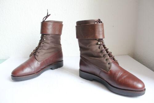 eleganti stivali Eu Made stringati più Più in In Italy 36 stivali vera pelle marrone 5pFEFxzq