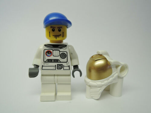 sep Space Helm cty221 cty384 3365 3368 LEGO Figur City  Astronaut blaue Kappe