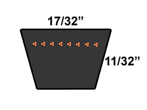 METRIC STANDARD 13A1255 Replacement Belt