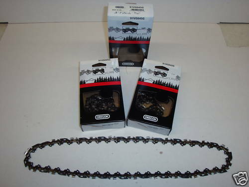 91VXL045G 4 Oregon Chainsaw Chains 91VXL045G 3 8LP .050