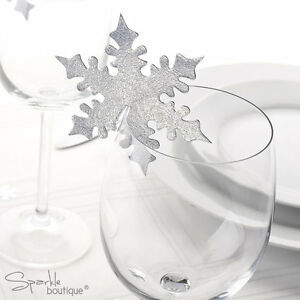 SNOWFLAKE-PLACE-NAME-CARDS-FOR-GLASS-Christmas-Winter-Wedding-Table-Decorations