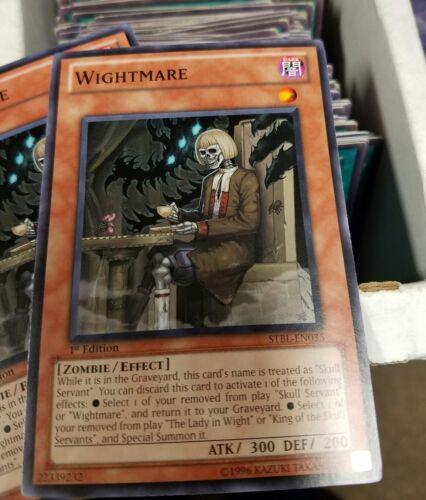 YUGIOH Starstrike Blast STBL-EN035 Wightmare 1st edition mint  pack fresh !!QTY