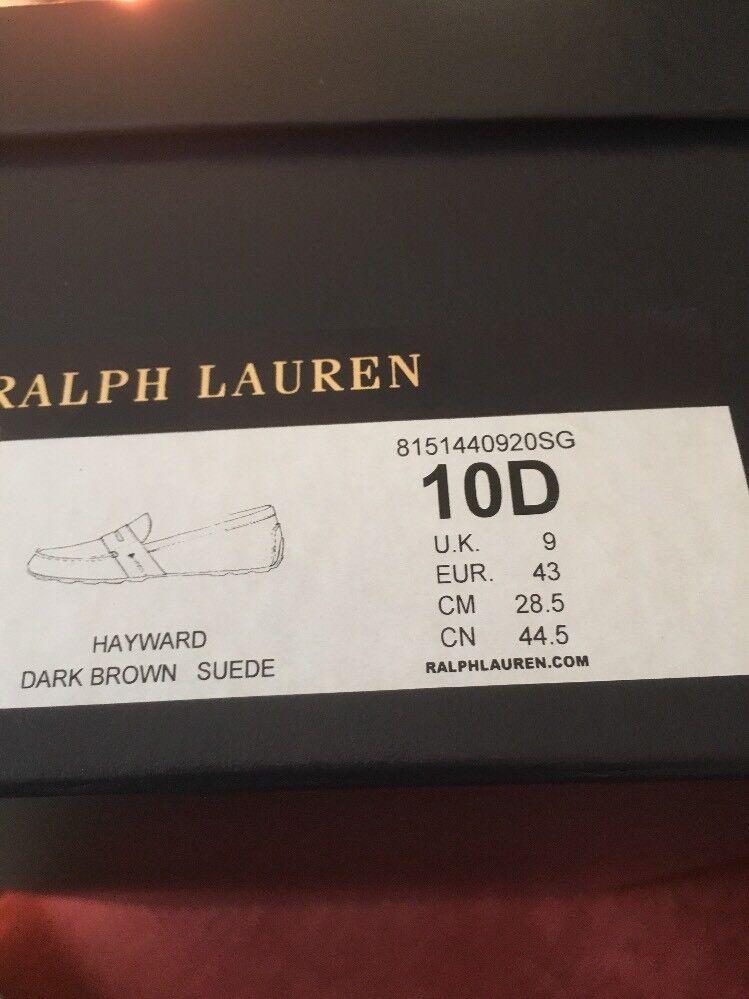 Talph Lauren hombre Hayward ante marrón oscuro Nuevo con etiquetas de hombre Lauren 7fb130
