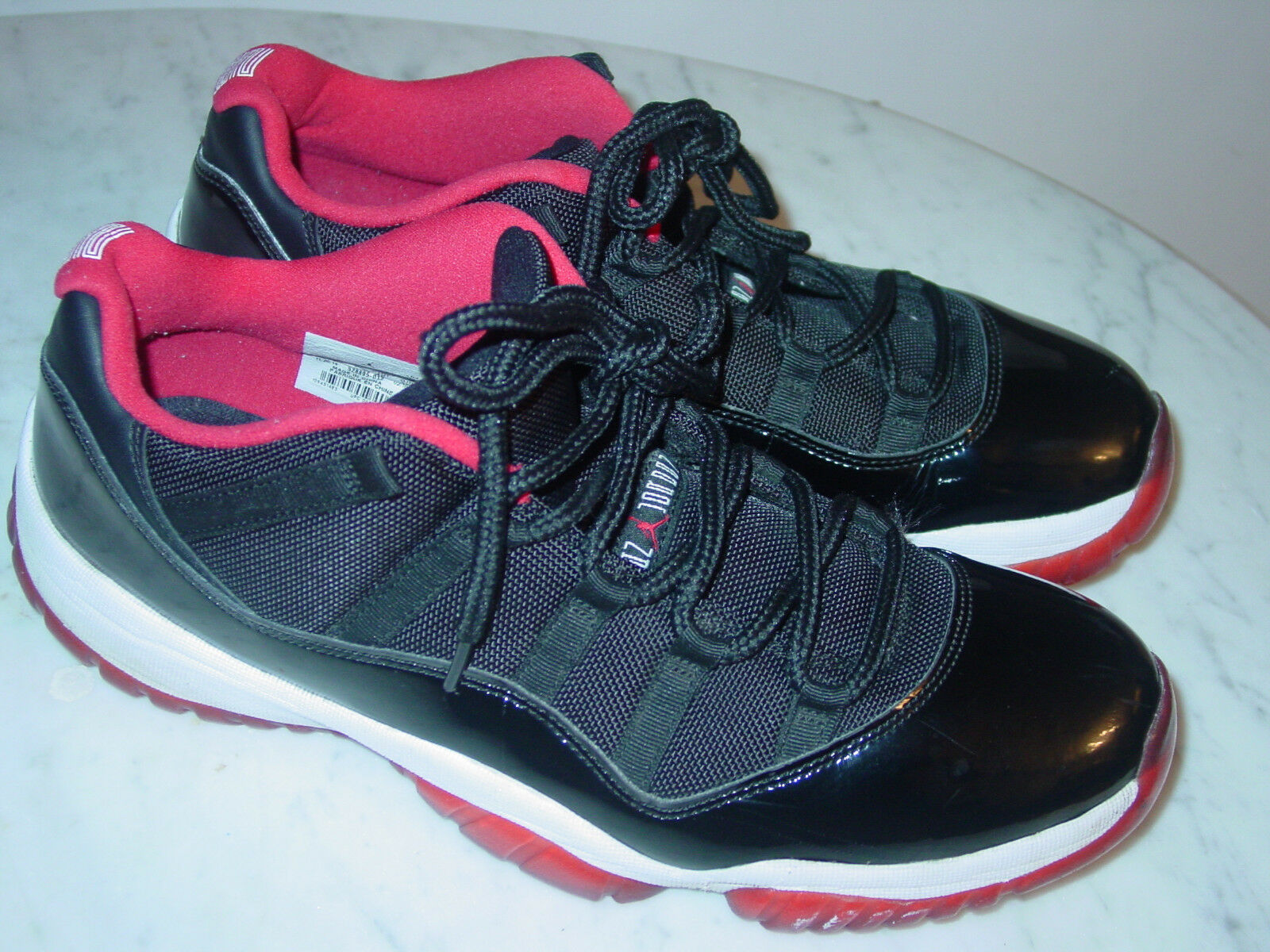 2014 Nike Air Jordan Retro 11  Bred  Black Red Low shoes  Size 12 Sold As Is