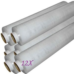 12X-Rolls-CLEAR-PALLET-STANDER-STRETCH-SHRINK-WRAP-17Mu-400mm-WIDE-LENGTH-250M