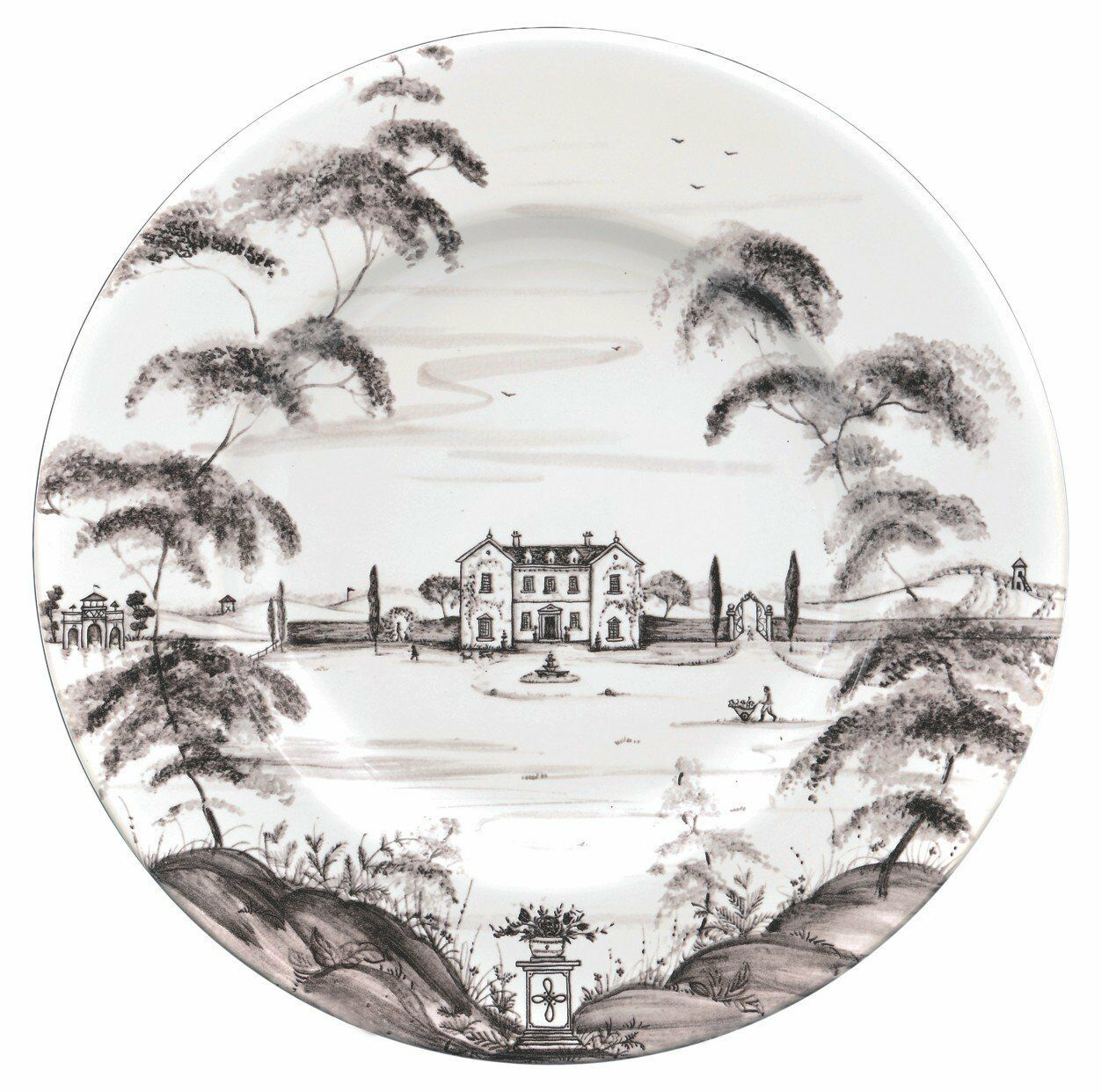 Juliska Country Estate Flint Dinner Plate Main House - Set of 4