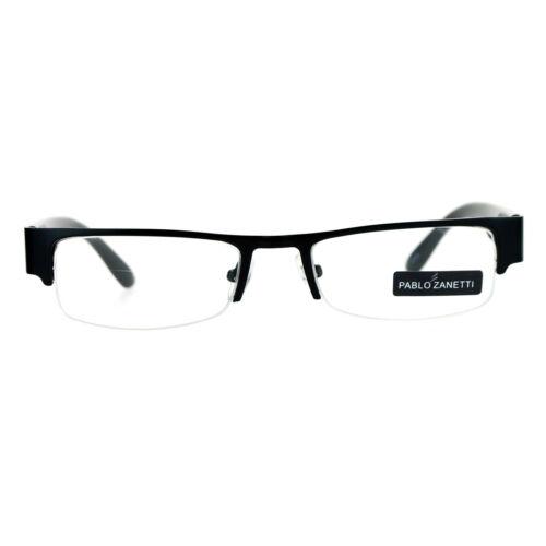 Pablo Zanetti Eyeglasses Rectangular Half Rim Clear Lens Glasses