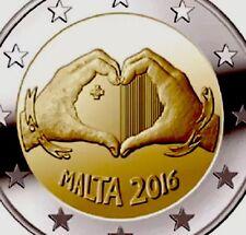 Malta 2 Euro Coin 2016 Commemorative Love Heart New BUNC from Roll