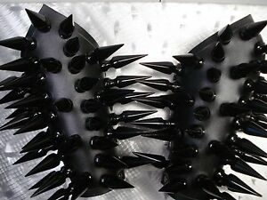 .... Leather Gauntlets Black Spikes.black Metal... mdlg0108 Dark Funeral's Distinctive For Its Traditional Properties