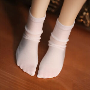 BJD Socks Stockings for 1//6 1//4 1//3 Black and White Striped Stockings AOD LUTS
