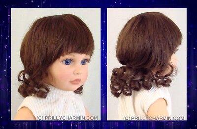"340 Size 12/"" Hair Color 4 Dark Brown NOS NIP IMSCO Long Hair B Doll Wig Style M"
