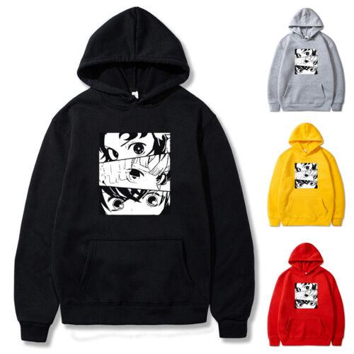 Anime Demon Slayer Kimetsu no Yaiba eye Hoodie Casual Sweatshirt Pullover Coat