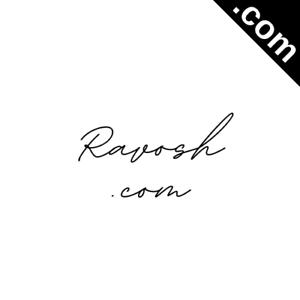 RAVOSH.com 6 Letter Short .Com Catchy Brandable Premium Domain Name for Sale