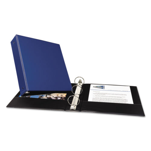 """Avery Economy Non-View Binder with Round Rings 11 x 8 1//2 2/"""" Capacity Blue 03500"""