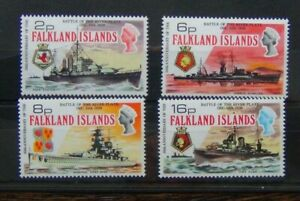 Falkland-Islands-1974-35th-Anniversary-of-Battle-of-the-River-Plate-set-MNH