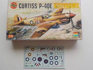 Maquette Airfix Curtiss P40 E Kittyhawk 172 01038 Complète Avec