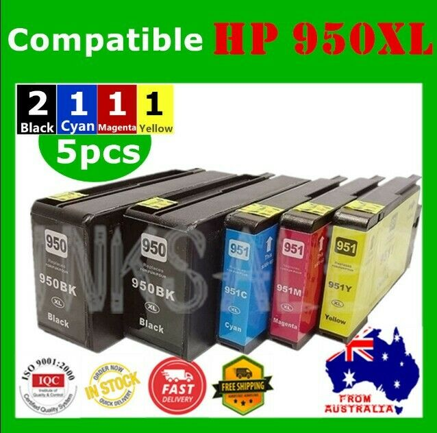 5x Ink Cartridges for HP 950XL 951XL Officejet pro 8100 8610 8620 8630 8600 plus