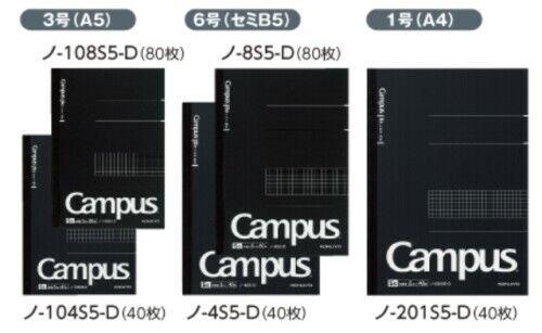 NEW Kokuyo Campus NoteBook Biz 5mm grid ruler A5 B5 A4 Japan