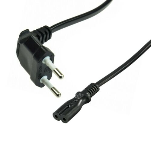 Doppelnutstecker Netzkabel Eurostecker Geräte-Anschluss-Kabel 230V 230 Volt
