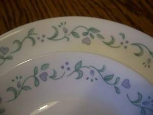 Image is loading CORELLE-DINNERWARE-COUNTRY-COTTAGE-DINNER-DESSERT-PLATES-8- & CORELLE DINNERWARE COUNTRY COTTAGE DINNER DESSERT PLATES 8 PC GREEN ...