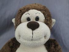 BIG BROWN MONKEY SOUNDS BUILD A BEAR  ADORABLE HUGGABLE PLUSH STUFFED ANIMAL