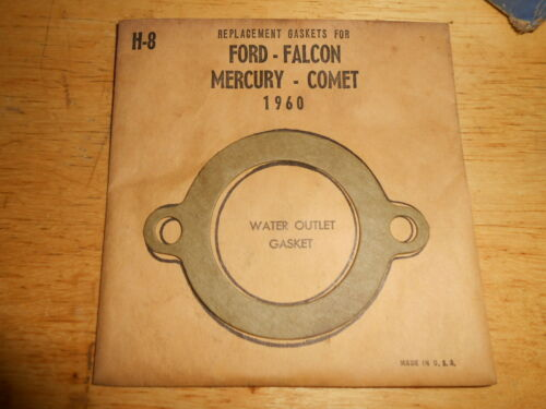 NOS Water Outlet Thermostat Gasket 1960 Dord Mercury Falcon Comet H8