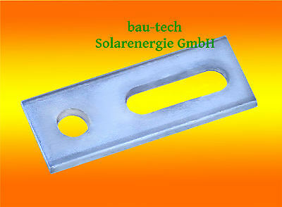 10 x Adapterplatten M10 für Stockschrauben A2 für PV Photovoltaik Solar Schiene