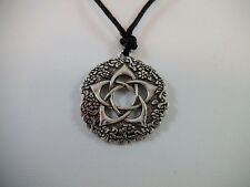 Wiccan Pentacle of the Goddess Pendant on Adjustable Cord Pagan Celtic Talisman