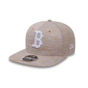 75e80a70e64 New Era MLB Boston Red Sox Beige Engineered Original Fit Adjustable ...