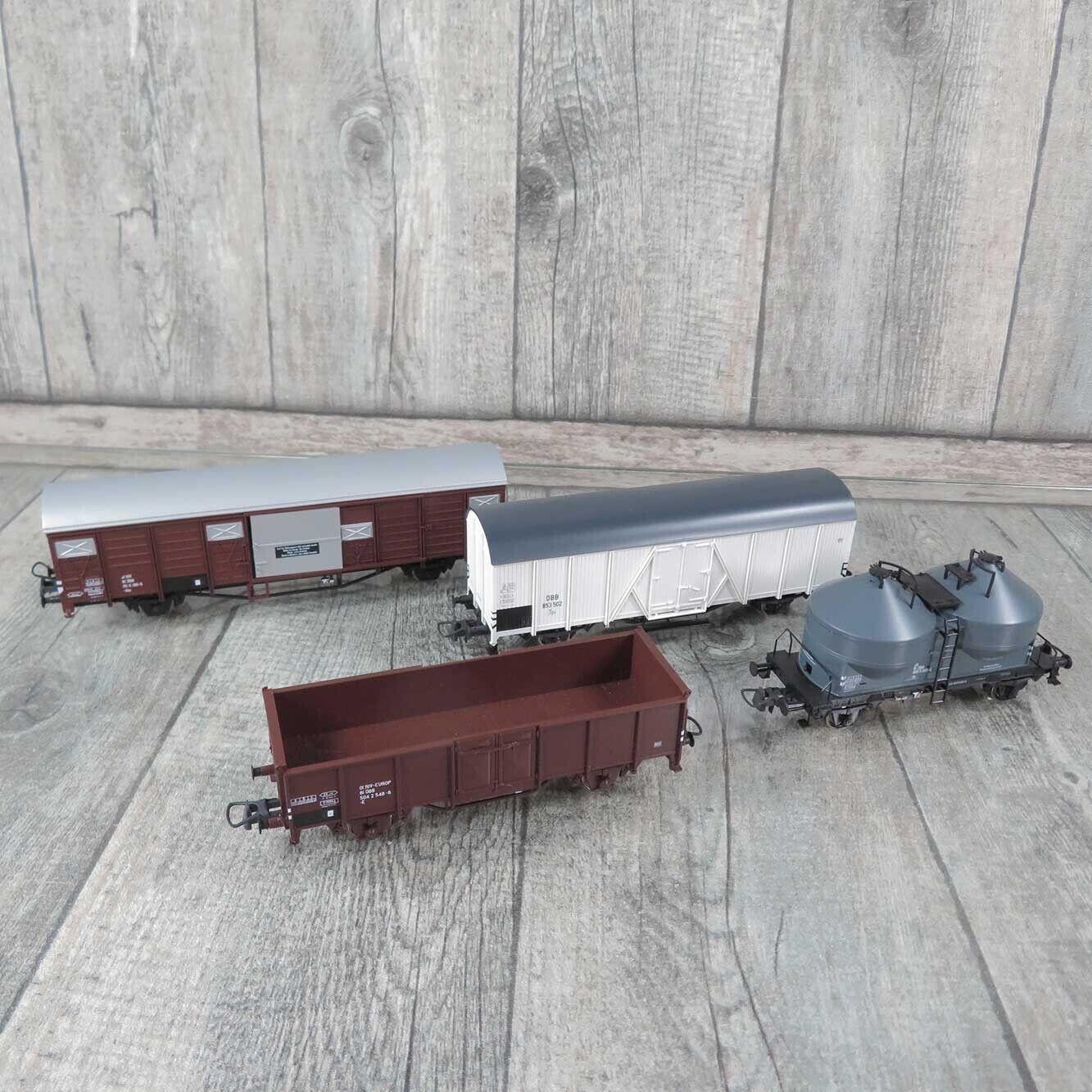 ROCO aus 41281 - H0 - ÖBB - 4 x Güterwagen -  Aa26763