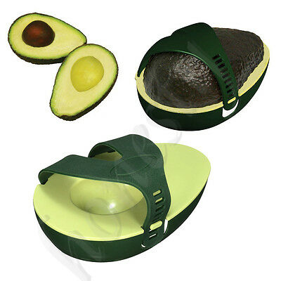 2X Avocado Avo Stay Fresh Saver Leftover Half Food Keeper Holder Kitchen Gadget