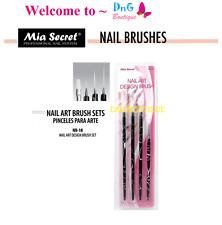 Mia Secret 4 pcs Nail Art Brush Set can be used W Gelux or Acrylic Paint NB18
