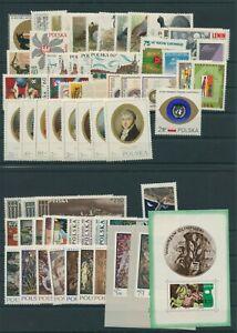 Pologne-Pologne-Vintage-1970-Neuf-MNH-sans-Mi-2010-2011-Complet