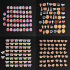 Lots 50Pcs 2 Holes Mixed Colorful Sewing Wooden Buttons Scrapbooking DIY Craft