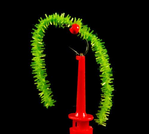 Perline Fluorescenti 12 x Jumbo gomma da masticare Vermi Misto Colori Trote Mosche vermi