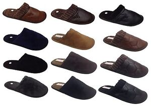 Mens Cool Warm Indoor Microsoft Slippers Slip On Mule Clogs Shoes Sizes UK 7-13