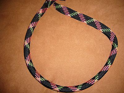 """""""nobby"""" - Hundehalsband, Nylon, Schwarz/bunt, B =13mm, Länge 60 Cm++neu++"""