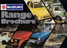 Suzuki 1981-82 UK Market Sales Brochure Alto SC100 SJ410 ST90