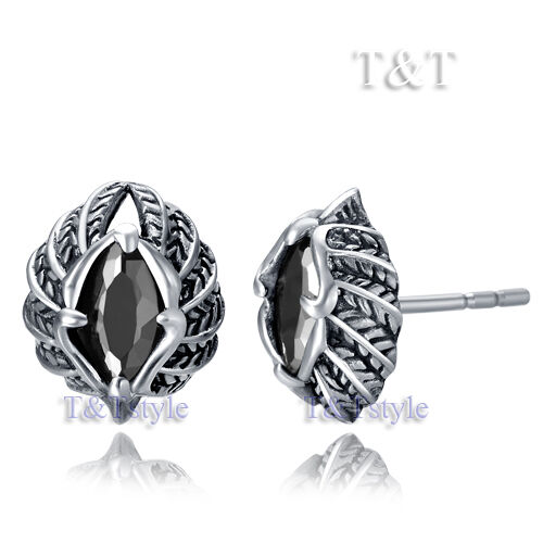 High Quality T/&T 316L Stainless Steel Stud Earring Single EZ41