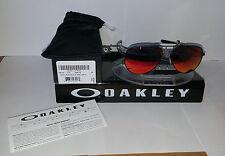 Oakley ELMONT SUNGLASSES M SATIN BLACK / RUBY IRIDIUM OO4119-0458
