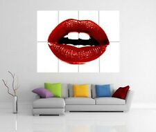RED LIPS POP ART GIANT WALL ART PICTURE PRINT POSTER G128