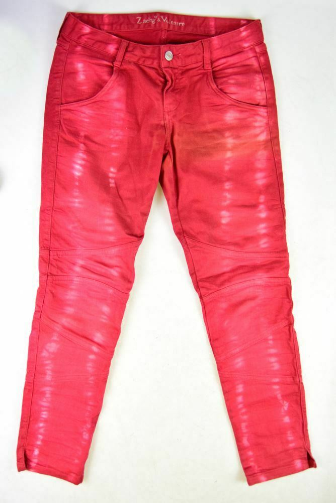 ZADIG & VOLTAIRE Red Cotton Jeans, Size XS