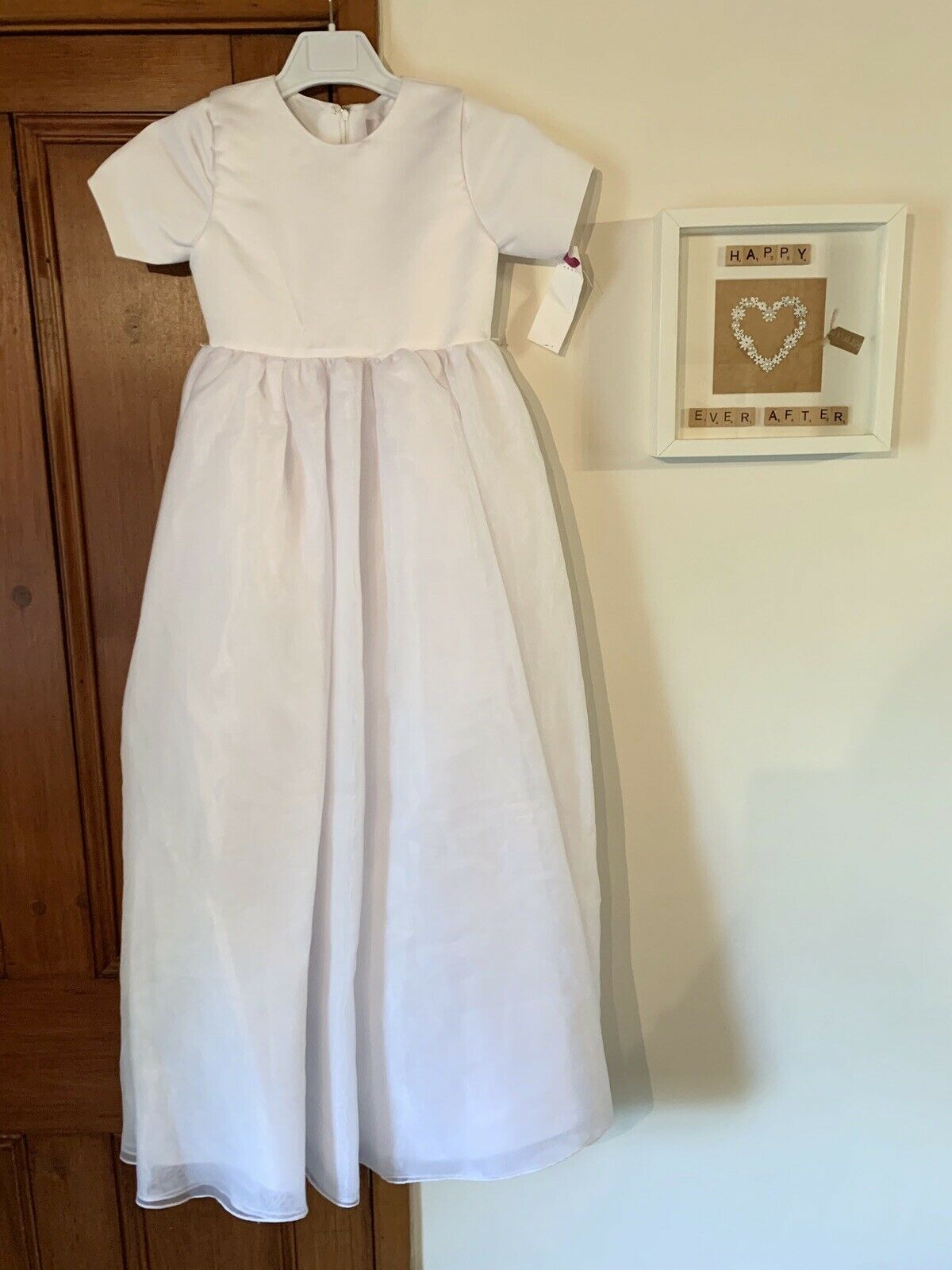 Emily Fox Ivory Pearl Buttoned Age 9 Bridesmaid/Flower Girl Party Evening Dress